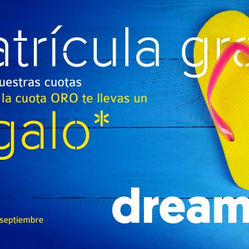 ¡Ven a Dreamfit y no pagues matrícula!